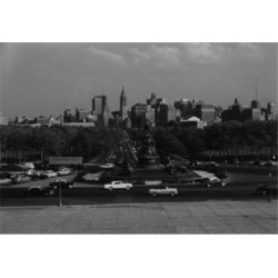 Posterazzi SAL255421389 USA Pennsylvania Philadelphia Skyline From Philadelphia Art Museum Poster Print - 18 x 24 in.