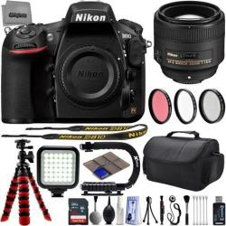 Nikon D810 36.3MP 1080P DSLR Camera w/ 3.2' LCD - Wi-Fi & GPS Ready - 7 fps + Nikon AF-S 18-140mm f/3.5-5.6G ED VR - 32GB - 25PC Lens Kit