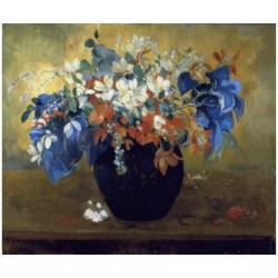 Posterazzi SAL900548 Flower Piece Paul Gauguin 1848-1903 French National Gallery London England Poster Print - 18 x 24 in.
