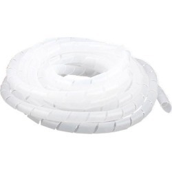 Unique Bargains 6M Length 12mm Dia Cable Wire Binding Organizer Manager Spiral Wrap Band White