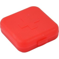 Travel Portable Medicine Pill 4 Compartments Storage Case Box Holder Red