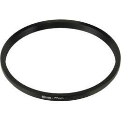 Unique Bargains Camera Lens Filter Step Down Ring 82mm to 77mm Adapter Black