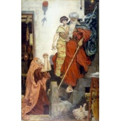 Posterazzi SAL900145526 Elijah Restoring the Widows Son by Ford Madox Brown 1868 1821-1893 UK England London Victoria & Albert Museum Poster Print.