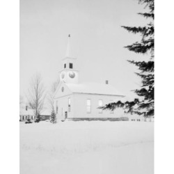 Posterazzi SAL255421561 USA Vermont Night Scene with Congregational Church at North Thetford Street Poster Print - 18 x 24 in.