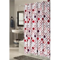 Carnation Home Fashions Shower Stall-Sized, EZ-ON Bohemia Polyester Shower Curtain