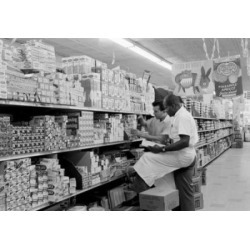 Posterazzi SAL255424650 Super Market Clerks Taking Inventory Poster Print - 18 x 24 in.