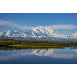 Posterazzi DPI12257830 Scenic View of Mt. Mckinley Reflecting in Reflection Pond Denali National Park Interior Alaska Spring Print - 19 x 12 in.