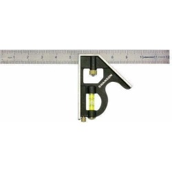 Swanson 12-Inch Combo Square (Cast Zinc Body, Stainless Steel Blade and Brass Bo