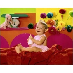 Posterazzi SAL3811363048 Close-Up of a Baby Girl Holding a Baby Bottle & Smiling Poster Print - 18 x 24 in.