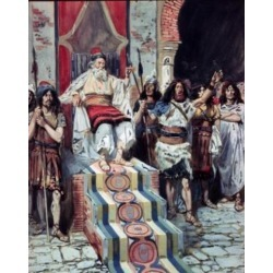 Posterazzi SAL999273 David Sees the Messenger Arrive James Tissot 1836-1902 French Jewish Museum New York USA Poster Print - 18 x 24 in.