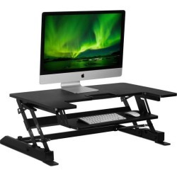 Mount-It! Standing Desk Converter with 35' Wide Platform