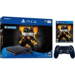 Playstation 4 Slim 1TB Jet Black Call of Duty Black Ops 4 Bundle With an Extra Sony 500 Million Limited Edition Translucent Blue DualShock 4.