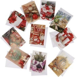 10pcs/set Merry Christmas Greeting Cards Holiday Xmas Card Envelope Goods