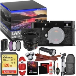 Leica M-P (Typ 240) Digital Rangefinder Camera (Black) - Master Landscape Photographer Kit - Memory Card - Accessories with Leica 18mm f/3.8 Lens