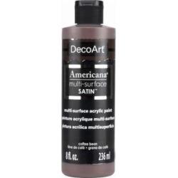 Deco Art DA536-9 Americana Multi-Surface Acrylic Paint, Coffee Bean, 8-oz. - Quantity 1