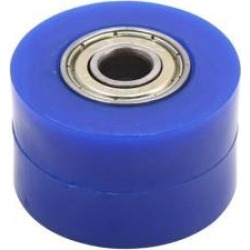 8mm Hole Chain Roller Tensioner Pulley Wheel Sprocket Blue for Motorcycle