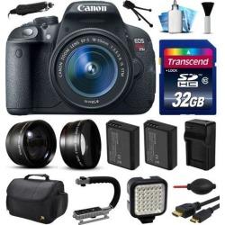 Canon EOS Rebel T5i 700D Digital Camera w/ 18-55mm Lens (32GB Essential Bundle)