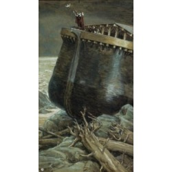 Posterazzi SAL999399 The Dove Returns to Noah James Tissot 1836-1902 French Jewish Museum New York USA Poster Print - 18 x 24 in.