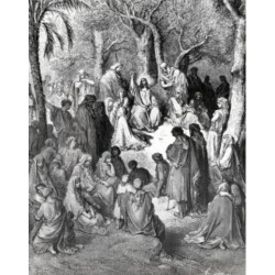Posterazzi SAL995709 Sermon on the Mount by Gustave Dore Print 1832-1883 Poster Print - 18 x 24 in.