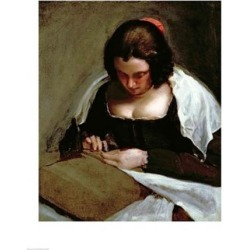 Posterazzi BALXIR221460LARGE The Needlewoman Poster Print by Diego Velazquez - 24 x 36 in. - Large