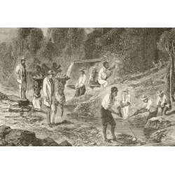 Panning For Diamonds. From The Book Chips From The Earth's Crust Published 1894. Poster Print (17 x 12)