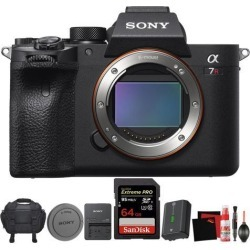 Sony Alpha a7R IV Mirrorless Digital Camera (Body Only) + Carrying Case + Sandisk 64GB Memory Card + Battery + Accessories Bundle