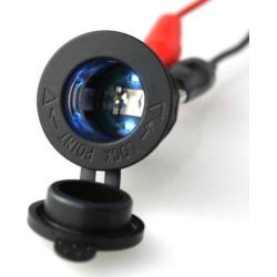 12V Cigarette Lighter Power Socket Plug Outlet for Car Motorcycle Blue light found on Bargain Bro India from Newegg Canada for $7.53