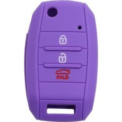 Car Keyless Entry Remote Key Case Holder Shell Cover 3/4 Button Purple for Kia found on Bargain Bro India from Newegg Canada for $7.27