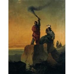 Posterazzi SAL9003045 Indian Telegraph John Mix Stanley 1814-1872 American Poster Print - 18 x 24 in.