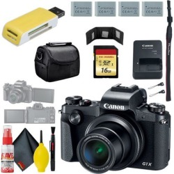 Canon PowerShot G1 X Mark III Digital Camera & 16GB MicroSD & Carrying Case & Battery x3