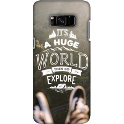 Premium Designer Printed Graphic Handcrafted Lightweight Snap On Shockproof Protective Hard Shell Back Cover Carrying Case for Samsung Galaxy S8