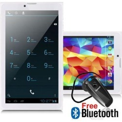 Indigi 7' Android 4.4 KK White 3G Tablet PC Smartphone 2-in-1 Unlocked - Free Accessory