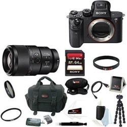 Sony A7R II: Sony Alpha a7RII Mirrorless Digital Camera (Body Only) with 90mm f/2.8 Lens and 64GB SDXC Accessory Bundle