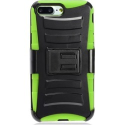 iPhone 7 Plus Case, Heavy Duty Dual Layer Rugged Holster Defender Full Body Protective Hybrid [Shockproof Hard Case] Cover w/ Side Kickstand & Belt