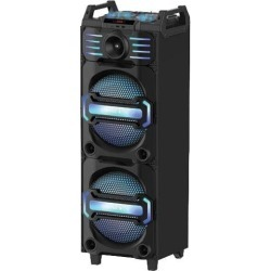Blackmore BJP-8016BT Black Portable Rechargeable Audio Entertainment System With LED Accent Lighting