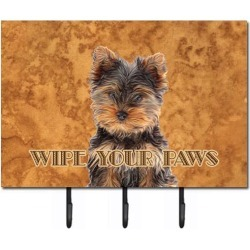 Carolines Treasures KJ1223TH68 Yorkie Puppy And Yorkshire Terrier Wipe your Paws Leash or Key Holder