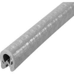 "Edge Trim U Seal Grey PVC Plastic U Channel Edge Protector Fits 1/64"" - 1/16"" Edge 5 Feet Length"