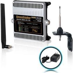 Smoothtalker Stealth Z6 60dB 4G LTE High Power 6 Band Cellular Signal Booster Kit.