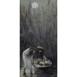 Posterazzi SAL99977 Moses Laid Amid the Flags James Tissot 1836-1902 French Jewish Museum New York City Poster Print - 18 x 24 in. found on Bargain Bro Philippines from Newegg Canada for $54.71