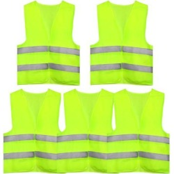 Reflective Mesh Design Security Vest for Jogging Traffic Safety Yellow Green 5pcs found on Bargain Bro Philippines from Newegg Canada for $22.44