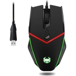 Zelotes Wired Gaming Mouse, 6 Buttons Programmable, Breathing Light, 3200 DPI, Weight Tuning Set, Ergonomics for PC, Computer Gamer Mice, Windows.