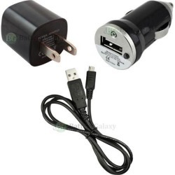 Wall Charger+Car+Micro USB Cable for Android Phone Samsung Galaxy Note 1 2 3 4 5