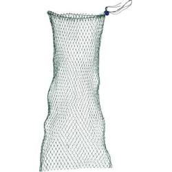 Unique Bargains 0.39' x 0.39' Nylon Portable Fishing Landing Net Fish Angler Mesh for Fishermen String Dark Green