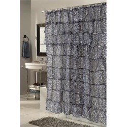 Carnation Home Fashions Living Room Decorative Carmen Polyester Shower Curtain in Zebra Print