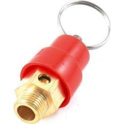 Unique Bargains 1/8'PT Male Thread Air Compressor Brass Pressure Relief Valve w Split Ring