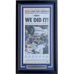 St. Louis Blues Framed June 13 2019 Stanley Cup Champs St. Louis Post Cover
