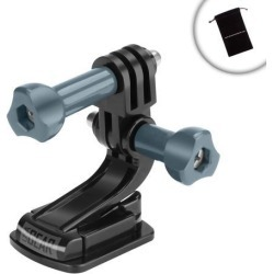 Tough Action Flat Adhesive Camera Mount with J Hook and Tripod Screw by USA Gear - Works With Fujifilm FinePix, Nikon Coolpix, Olympus Tough & More