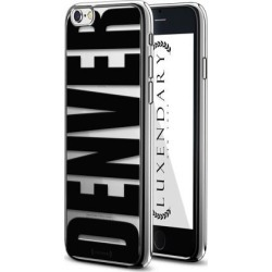 LUXENDARY BLACK BOLD DENVER DESIGN CHROME SERIES CASE FOR IPHONE 6/6S PLUS