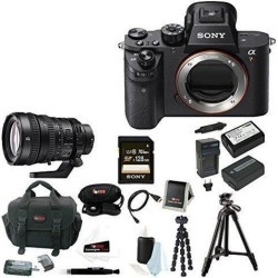 Sony A7R II: Sony Alpha a7RII Camera Body Only + Sony FE PZ 28-135mm f/4 Lens + 128GB Bundle