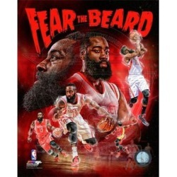 Posterazzi PFSAARS22001 James Harden Fear the Beard Portrait Plus Sports Photo - 8 x 10 in.